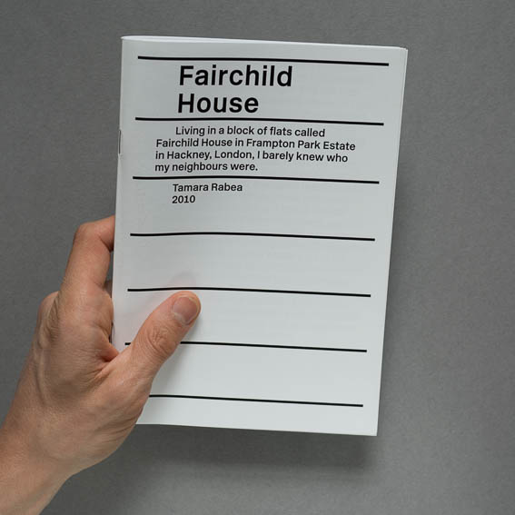 Tamara Stoll, Fairchild House, PHOTOGRAPHY 2011 & PUBLICATION 2015